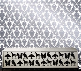 Damsel Oyster Designer Removable Wallpaper For Dorms College Supplies Dorm Room Wallpaper