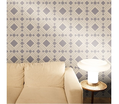 Diamond Taupe Designer Removable Wallpaper Dorm Room Wallpaper