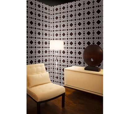 Won't Leave Residue - Chocolate Diamond Designer Removable Wallpaper - Adds Decor For Dorms