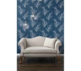 Edie Frosted Teal Tempaper (Removable Wallpaper) college decor wall paper
