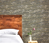 Dorm Room Wallpaper Dorm Room Decor Flock Storm Gray Designer Removable Wallpaper
