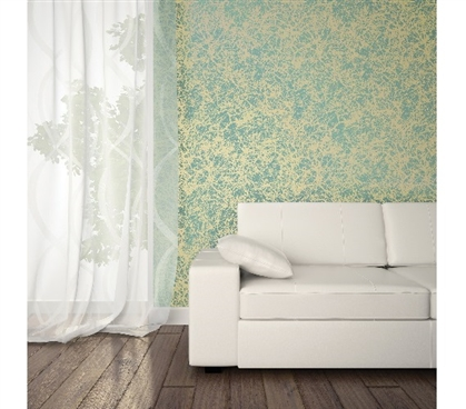 Forest Ocean Gold Designer Removable Wallpaper Dorm Essentials Dorm Room Decorations