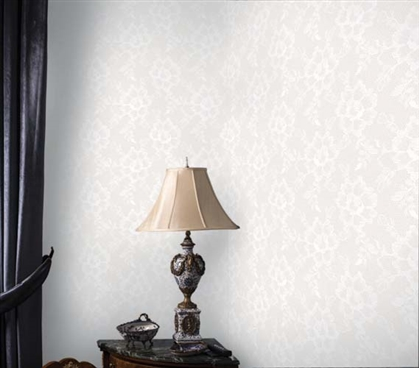 Dorm Essentials Dorm Room Decorations Lace Textured Pearl Designer Removable Wallpaper