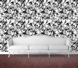 L'Amour Black and White Designer Removable Wallpaper for Dorms College Supplies Dorm Room Decorations
