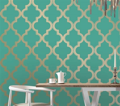 Marrakesh Honey Jade Designer Removable Dorm Room Wallpaper Dorm Room Decorations Dorm Essentials