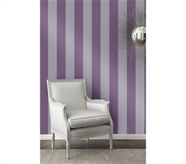 Cool Stuff For Dorms - Lilac Stripe Designer Removable Wallpaper - Great For College Girls