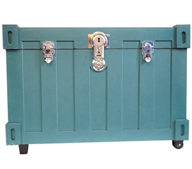 Bolt Trunks - Pacific Teal Extra Roomy College Footlocker Dorm Necessities
