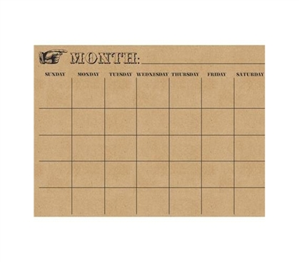 Pointer Monthly Calendar - Peel N Stick - Dorm Organizer - College Supplies Essentials