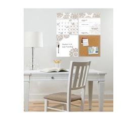 Medallion Design Wall Organizer - Peel N Stick - Dorm Decor
