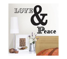 Dorm Room Essentials - Love And Peace - Peel N Stick - Dorm Decor