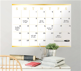 Gold Monthly Calendar - Peel N Stick