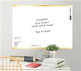 Gold Message Board - Peel N Stick - Dorm Supplies