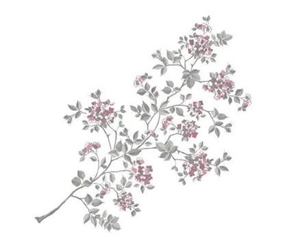 Dorm Decor - Full Cherry Blossom Decor - Peel N Stick - College Accessories