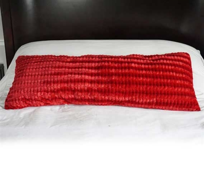 College Plush Body Pillow - Yukon Scarlet Red Dorm Essentials College Supplies