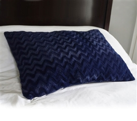College Plush Jumbo Wide Body Pillow - Navy College Supplies Must Have Dorm Items