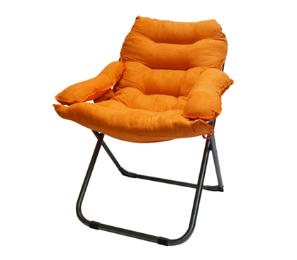 Extra Comfortable College Seating - Seat Yourself In This College Club Dorm Chair - Plush & Extra Tall - Orange