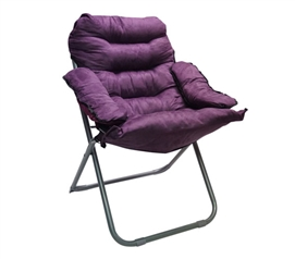 Extra Comfortable College Seating - Seat Yourself In This Club Dorm Chair - Plush & Extra Tall - Purple