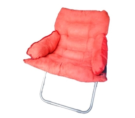 Extra Dorm Furniture - College Club Dorm Chair - Plush & Extra Tall - Ugly Red - College Supplies Necessity