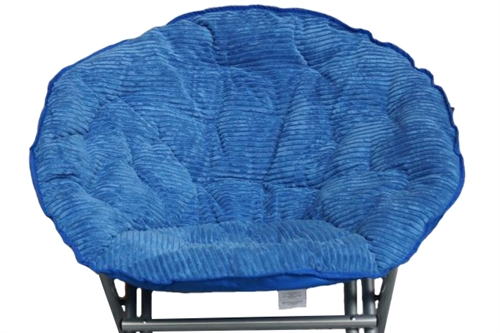 Comfy Corduroy Moon Chair Campus Blue Fold Able Chair