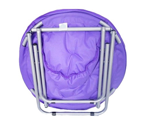 Comfort padded moon chair downtown purple college shopping seating