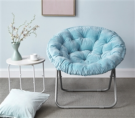 A Perfect Color To Match Your Dorm Decor - Comfort Padded Moon Chair - Sky Aqua