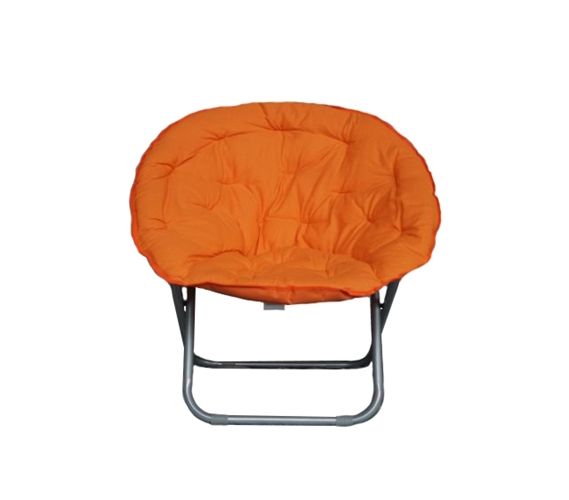 Comfort Padded Moon Chair Orange Dorm Room Chairs Are