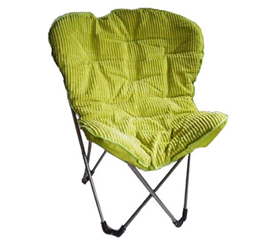 College Essentials - Comfort Padded Butterfly Foldable Dorm Chair - Lime Seating Option