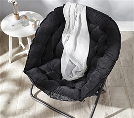 College Dorm Furniture - Papasan Moon Chair - Black