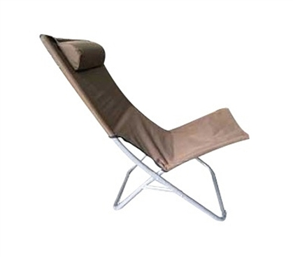 College Dorm Lounger - Foldable Brown College Seating. Space Saving Essential