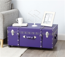 Dorm Trunks Are Practical - The Sorority College Trunk - Plum - Pretty In Purple