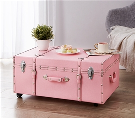 Dorm Storage - The Sorority College Dorm Trunk - Baby Pink - College Accessories