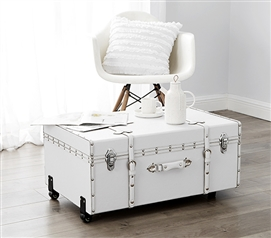 The Sorority College Dorm Trunk - White