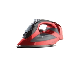 Laundry Supplies - Steam Iron With Retractable Cord - Red - College Essentials
