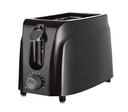 2 Slice Cool Touch Toaster - Black Dorm Necessities College Supplies