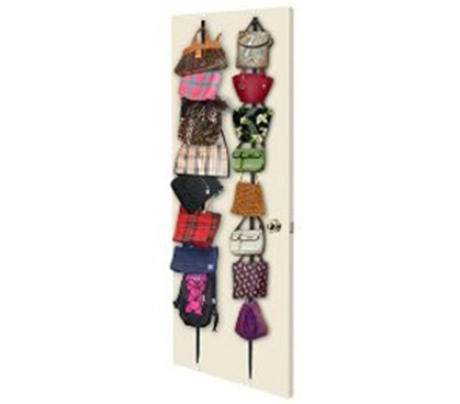 Purse Rack (Holds 8) Over the Door girls dorm room organizer