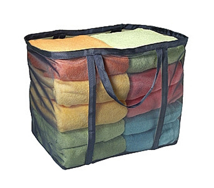 Mesh Double Handle Laundry Tote - Clean College Dorm Closet Essential