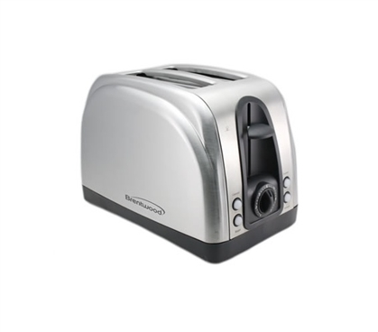 Stainless Steel 2-Slice Toaster - Great For Dorm Breakfast