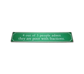 4 Out of 3 People - Humorous Tin Sign - Add Some Humor To Your Wall Decor