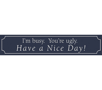 Snappy College Decor - Have A Nice Day - Funny College Tin Sign Decor