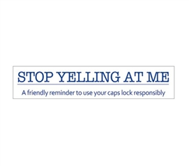 Bring Humor To Dorm Life - Stop Yelling At Me - Humorous Tin Sign - Cool Dorm Supplies