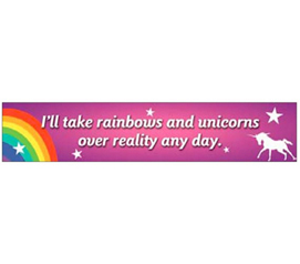 Funny Tin Sign - Rainbows And Unicorns - Humorous Tin Sign - Dorm Shopping