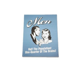 Decorate Your Dorm - Half the Population - Funny Tin Sign - Cool Wall Decor
