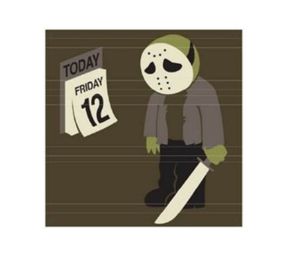 College Shopping Essential - Friday The 12th - Tin Sign - Makes For Funny Wall Decor