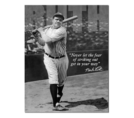 Tin Sign Dorm Room Decor Babe Ruth black and white photograph print on vintage tin sign for wall decoration