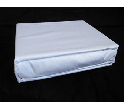 100% Cotton Pure White College Sheets - 300 TC