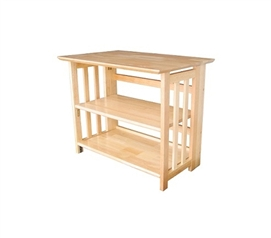 Mission Folding TV Stand - Natural Wood Decor College Furniture