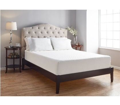 "10"" Serene Foam Bed in Box Twin XL Dorm Bedding"