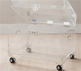 Ciao Bella Acrylic Trunk - Silver Plated with Wheels