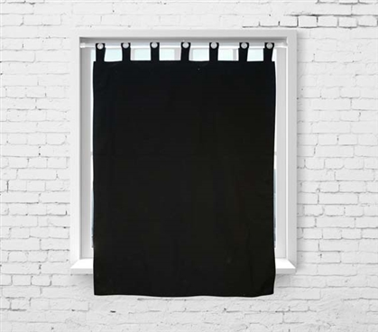College Blackout Curtain - Black Dorm Room Curtains Dorm Essentials