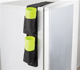 Cuppin Caddy - Over the Fridge Storage Organizer Dorm Storage Solutions Dorm Room Storage